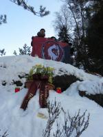 27. Januar, Kletter-Gedenkaktion, Gipfelfoto