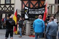 """Jan Schmidt (AfD, MdL) als Redner am 03.04.2016 bei """"Grablichtaktion"""" der """"IB Harz"""" in Wernigerode (Foto: Mario Bialek)"""