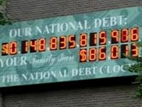 US national debt clock out of digits.