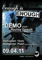 Enough is Enough! Demo gegen rechte Gewalt in Salzburg