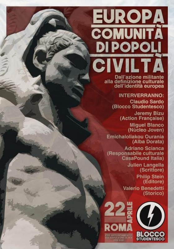 22. April 2017 - Blocco Studentesco Kongress: Europa - communita di popoli - civilta